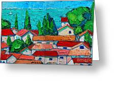 Mediterranean Roofs 1 2 Greeting Card