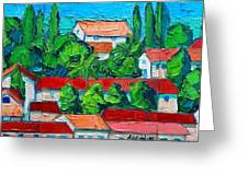 Mediterranean Roofs 2 3 4 Greeting Card