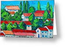Mediterranean Roofs 3 4 Greeting Card
