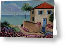 Mediterranean Villa Greeting Card by Stefon Marc Brown