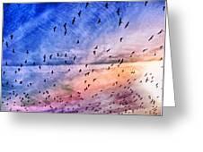 Meet Me Halfway Across The Sky 2 Greeting Card by Angelina Vick