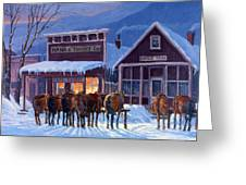 Meeting Of The Board Greeting Card by Randy Follis