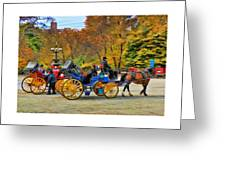 Meeting Of The Carriages Greeting Card