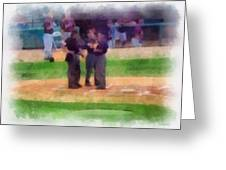 Meeting Of The Umpires Photo Art Greeting Card