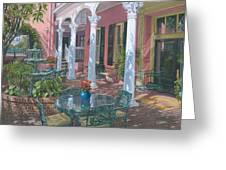 Meeting Street Inn Charleston Greeting Card by Richard Harpum