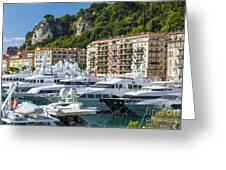 Mega Yachts In Port Of Nice France Greeting Card