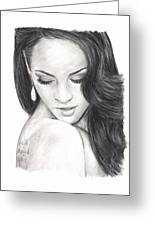 Megan Fox Greeting Card by Rosalinda Markle