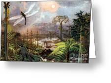 Meganeura In Upper Carboniferous Greeting Card