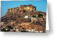 Mehrangarh Fort Greeting Card