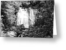 Meigs Falls Smoky Mountains Bw Greeting Card