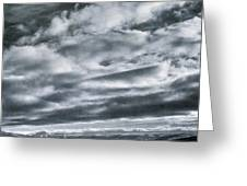 Melancholia Mountains And Even More Mountains Greeting Card
