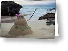 Mele Kalikimaka Merry Christmas From Paako Beach Maui Hawaii Greeting Card