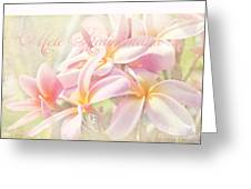 Mele Kalikimaka - Pink Plumeria - Hawaii Greeting Card