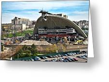 Mellon Arena Partially Deconstructed Greeting Card