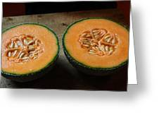 Melon Halves Greeting Card