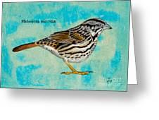 Melospiza Melodia Greeting Card