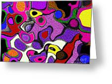 Melted Rubiks Cube 2 Greeting Card