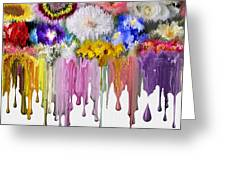 Melting Flowers Greeting Card