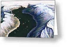 Melting Glacier 3 Of 3 Greeting Card