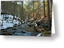 Melting Snow Greeting Card