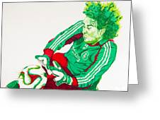 Memo Ochoa Drawing Greeting Card