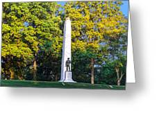 Memorial At Fort Donelson Greeting Card
