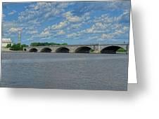 Memorial Bridge After The Storm Greeting Card