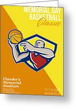 Memorial Day Basketball Classic Poster Greeting Card
