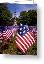 Memorial Day Flag Garden Greeting Card