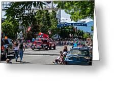 Memorial Day Parade In Grants Pass Greeting Card