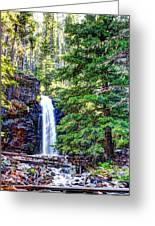 Memorial Falls In Montana Greeting Card