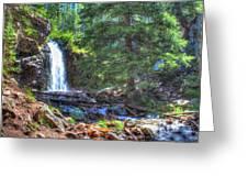 Memorial Falls Logjam Greeting Card