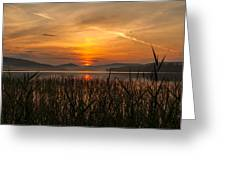 Memories Of A Sunset Greeting Card by Rose-Maries Pictures