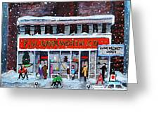 Memories Of Winter At Woolworth's Greeting Card