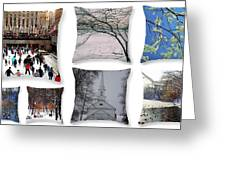 Memories Of Winter - A Collage Greeting Card