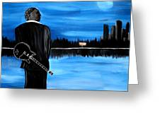 Memphis Dream With B B King Greeting Card