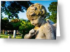 Memphis Elmwood Cemetery - Boy Angel Greeting Card