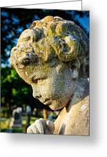 Memphis Elmwood Cemetery - Boy Angel Vertical Greeting Card
