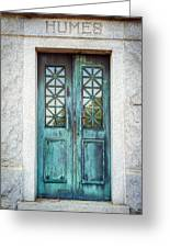 Memphis Elmwood Cemetery - Humes Crypt Greeting Card