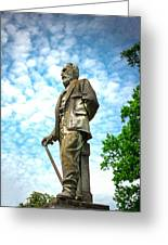 Memphis Elmwood Cemetery - Man With Cane Greeting Card