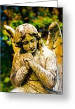 Memphis Elmwood Cemetery - Praying Angel Greeting Card