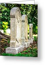 Memphis Elmwood Cemetery Monument - Four In A Row Greeting Card