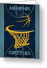 Memphis Grizzlies Court Greeting Card