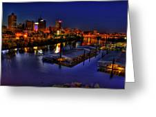 Memphis Tn Just Before Dawn Greeting Card