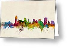 Memphis Tennessee Skyline Greeting Card