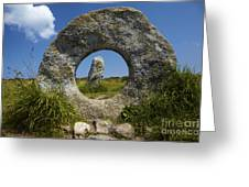 Men An Tol Neolithic Monument Greeting Card