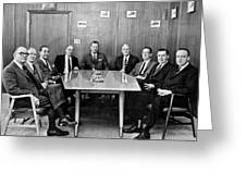 Men At A Business Meeting Greeting Card