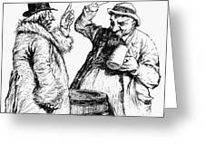 Men Drinking, 1900 Greeting Card