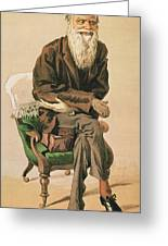 Men Of The Day, No. 33, Charles Darwin, Cartoon From Vanity Fair Greeting Card