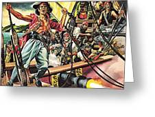 Men Of The Jolly Roger Greeting Card